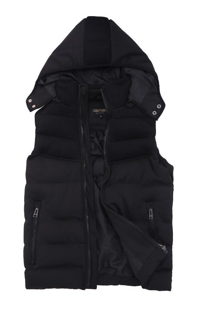 Vest Black Sleeveless Jacket-Coats & Jackets-SheSimplyShops