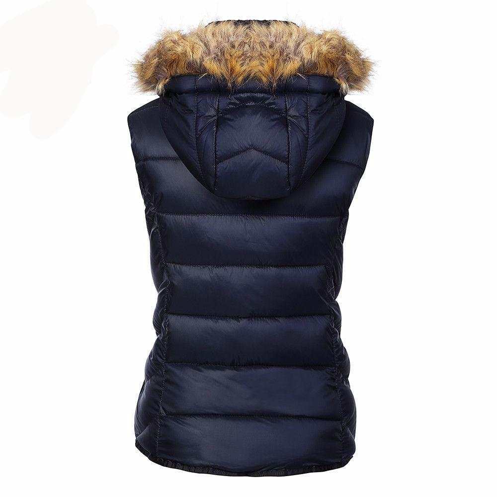 Sleeveless Fur Hooded Winter Vest-Coats & Jackets-SheSimplyShops