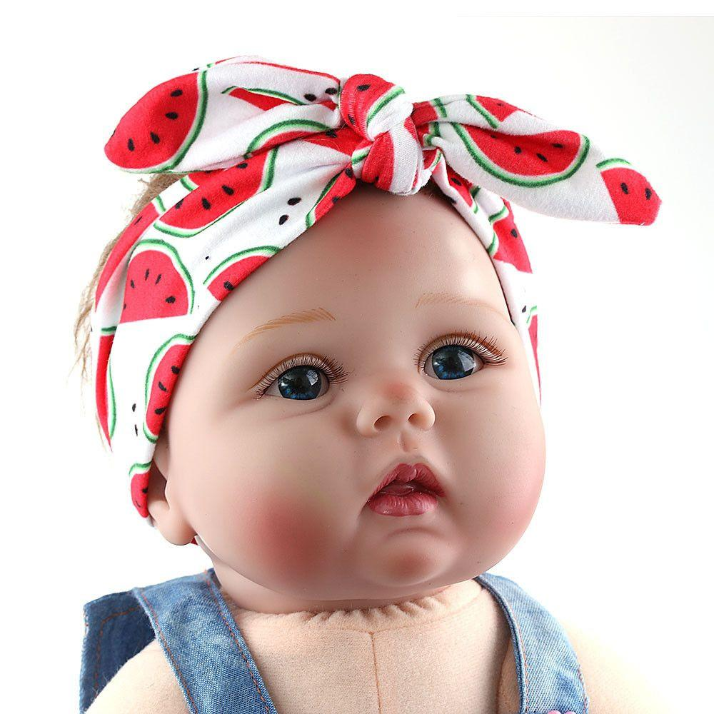 1PC Baby Girl Toddler Newborn Fruit Print Headband Hairband Headwrap Hair Bow Knot Tiara Hair Band Accessories-ACCESSORIES-SheSimplyShops