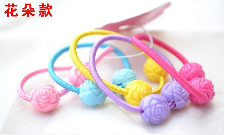 Elastic band bracelet summer style hair accessories baby girl headband clips gum weave baffle braided bow bandana ornaments-BRACELETS-SheSimplyShops
