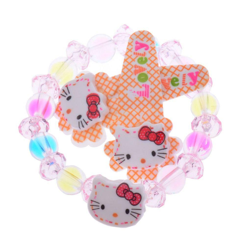 2Packs Lot Hello Kitty Baby Girl Hairpin+Bracelet Jewelry Set Girl Hair Clip-BRACELETS-SheSimplyShops