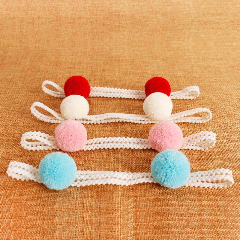 1PCS Sweet Simple Girls Hair Ball Headbands Newborn Infant Hair Accessories Children Elastic Hair Bands Kids Headwear Baby Gift-ACCESSORIES-SheSimplyShops