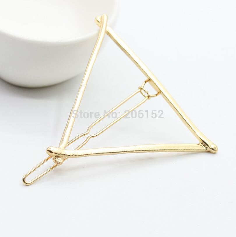 New Brand Hairpins Star Moon Triangle Hair Pin Fine Jewelry Hairgrips Hair Clip For Women Hair Accessories-JEWELRY-SheSimplyShops