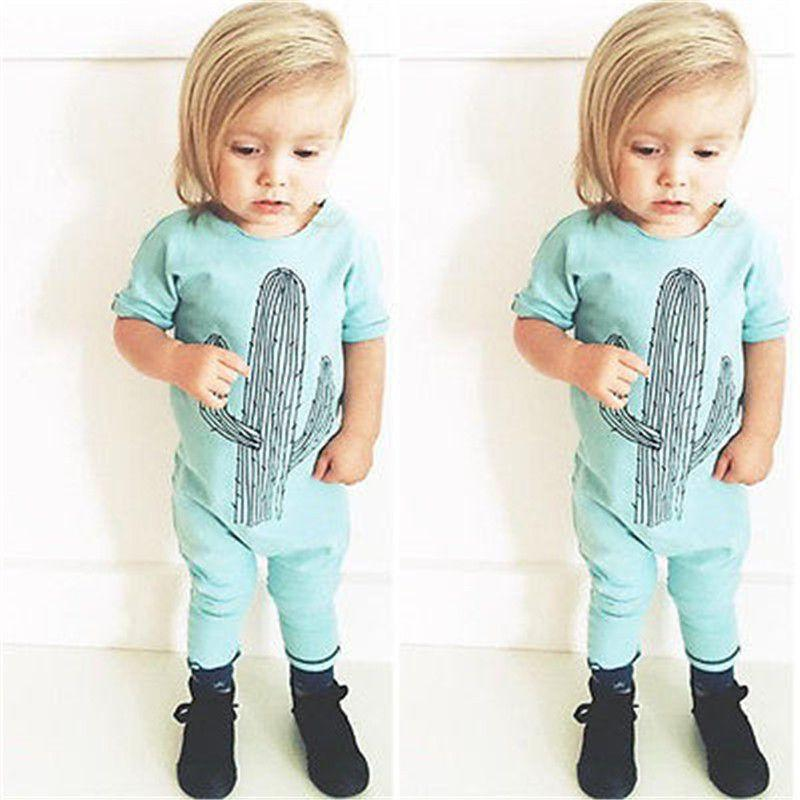 Baby Children Romper Clothing Kids Baby Girl Clothes Romper Jumpsuit Letter Short Sleeve Playsuit Pajamas Outfits 0-3Y-ROMPERS & JUMPSUITS-SheSimplyShops