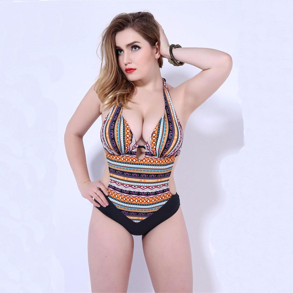 Bohemian Bandage One-piece Push Up Swimwear-SWIMWEAR-SheSimplyShops