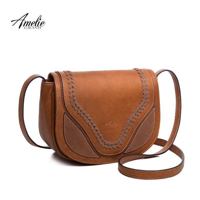 Vintage women crossbody bags causal messenger bag saddle solid soft fashion high quality cover bag famous design-BAGS-SheSimplyShops