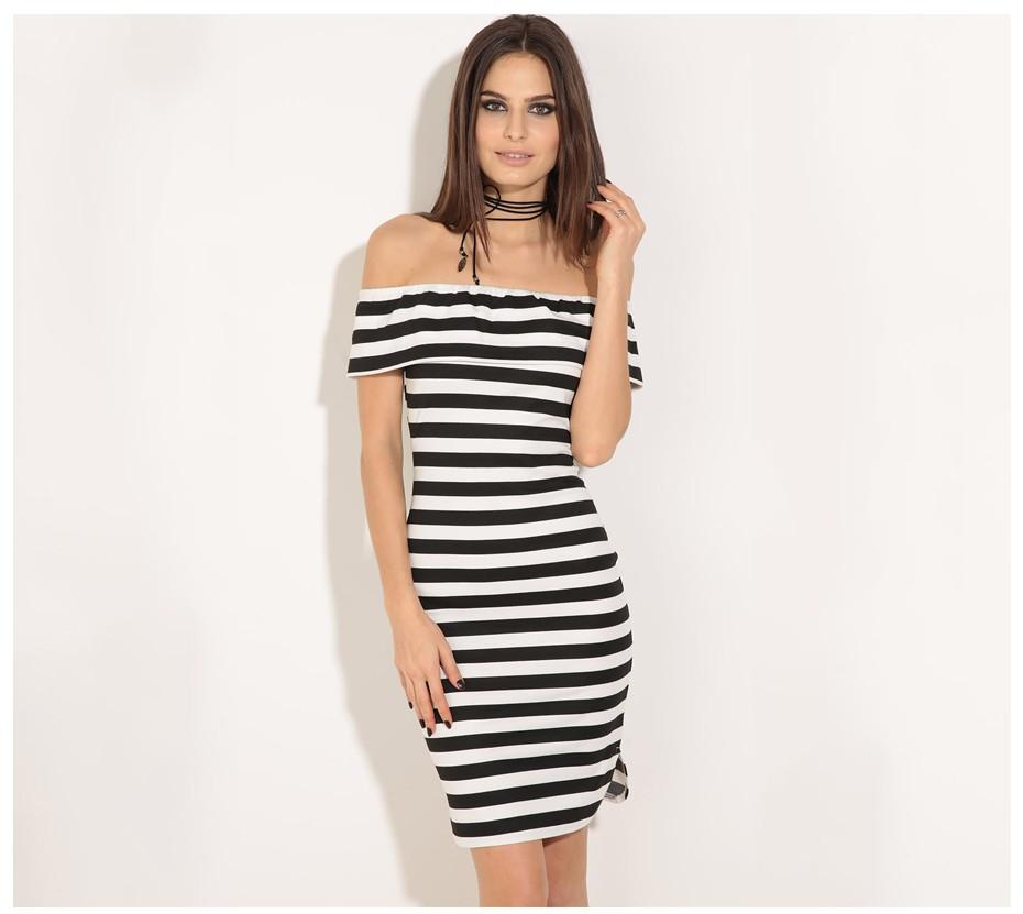 Black and white striped bodycon dress games top sale