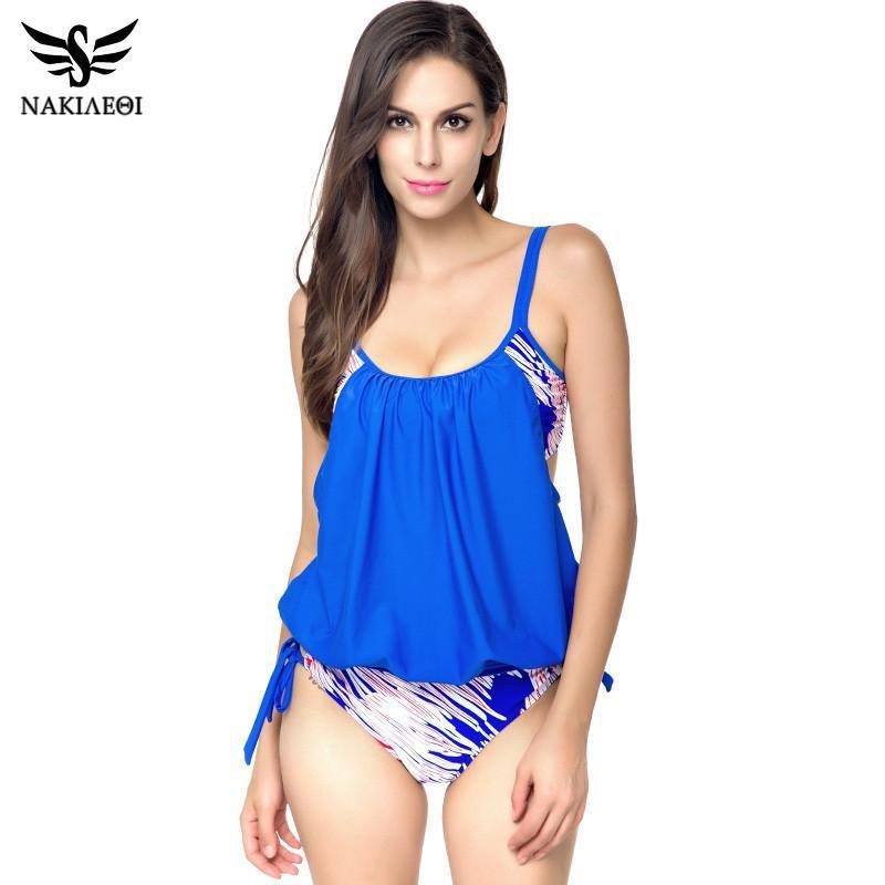 Tankini Push Up Swimwear Women Swimsuit Plus Size Swimwear Female Tankini Set Top Summer Beach Wear Bathing Suits-Tanks-SheSimplyShops