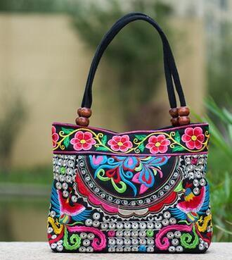 Double Faced Flower Embroidery handbag-BAGS-SheSimplyShops
