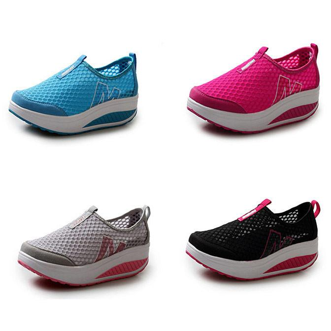 Summer Shoes Women Causal Sport Fashion Walking Flats Height Increasing Women Loafers Breathable Air Mesh Swing Wedges Shoe-ACTIVEWEAR-SheSimplyShops