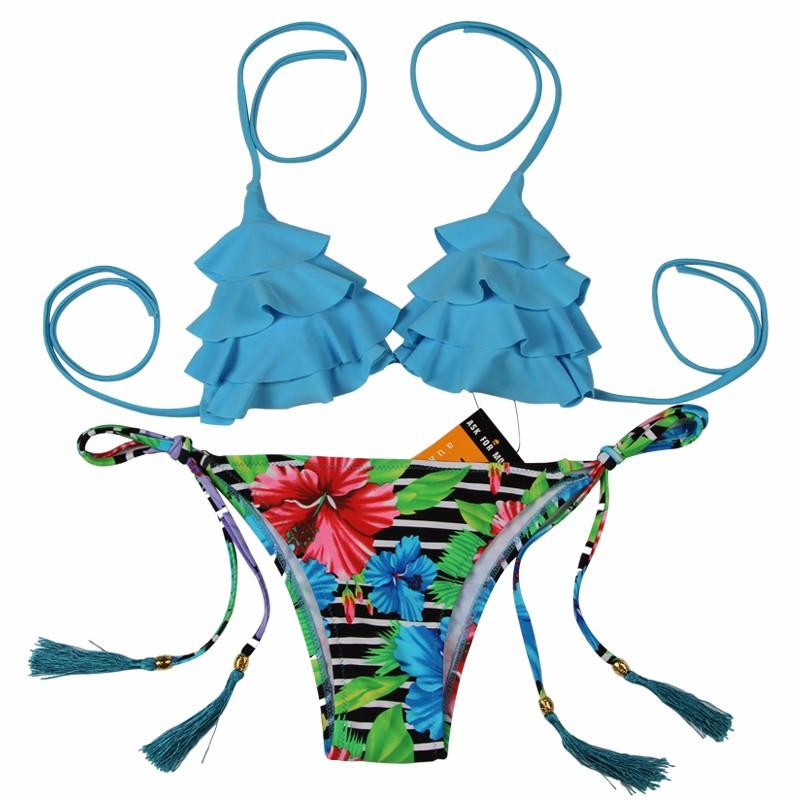 Sexy Bikinis Women Swimsuit Girls Swimwear Halter Top Bottoms Micro Bikini Set Bathing Suits Swim Wear-Bottoms-SheSimplyShops