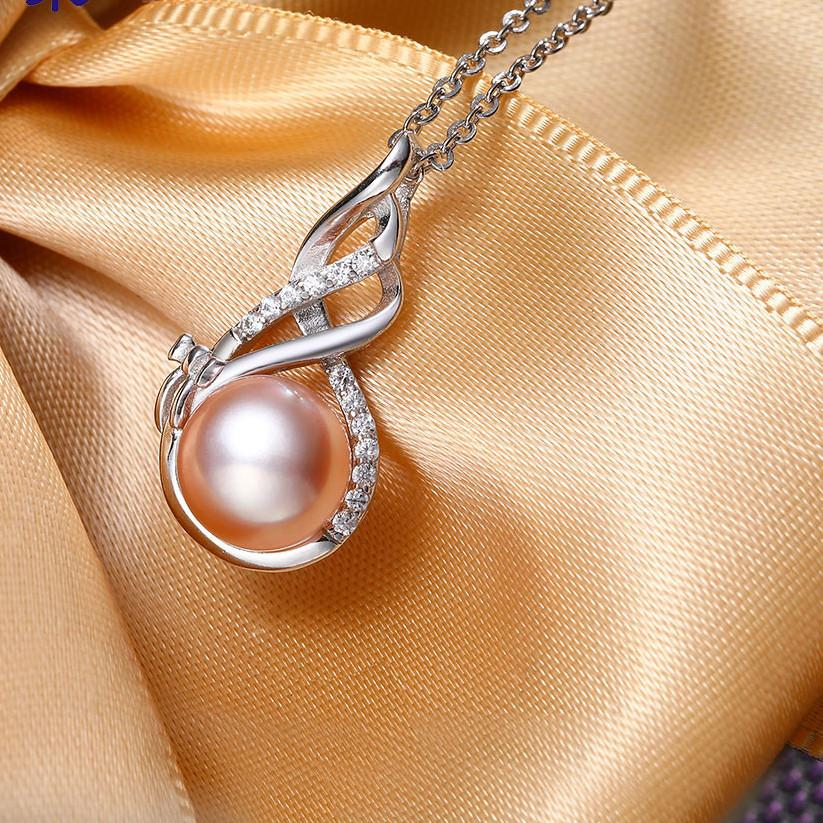 Natural Pink Pendant Sterling-Silver-Jewelry Pendant Necklace 2017 New-NECKLACES-SheSimplyShops
