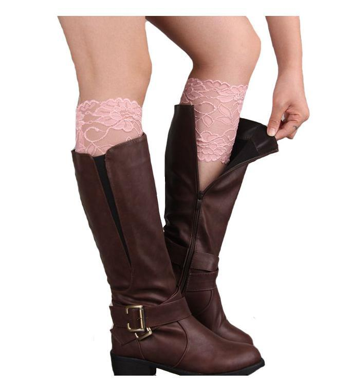LASPERAL Brand Boot Socks Women's Stretch Lace Boot Cuffs Ladies Sexy Knee Ankle Wamer Spring Trim Toppers Socks Leg Warmers-Tops-SheSimplyShops