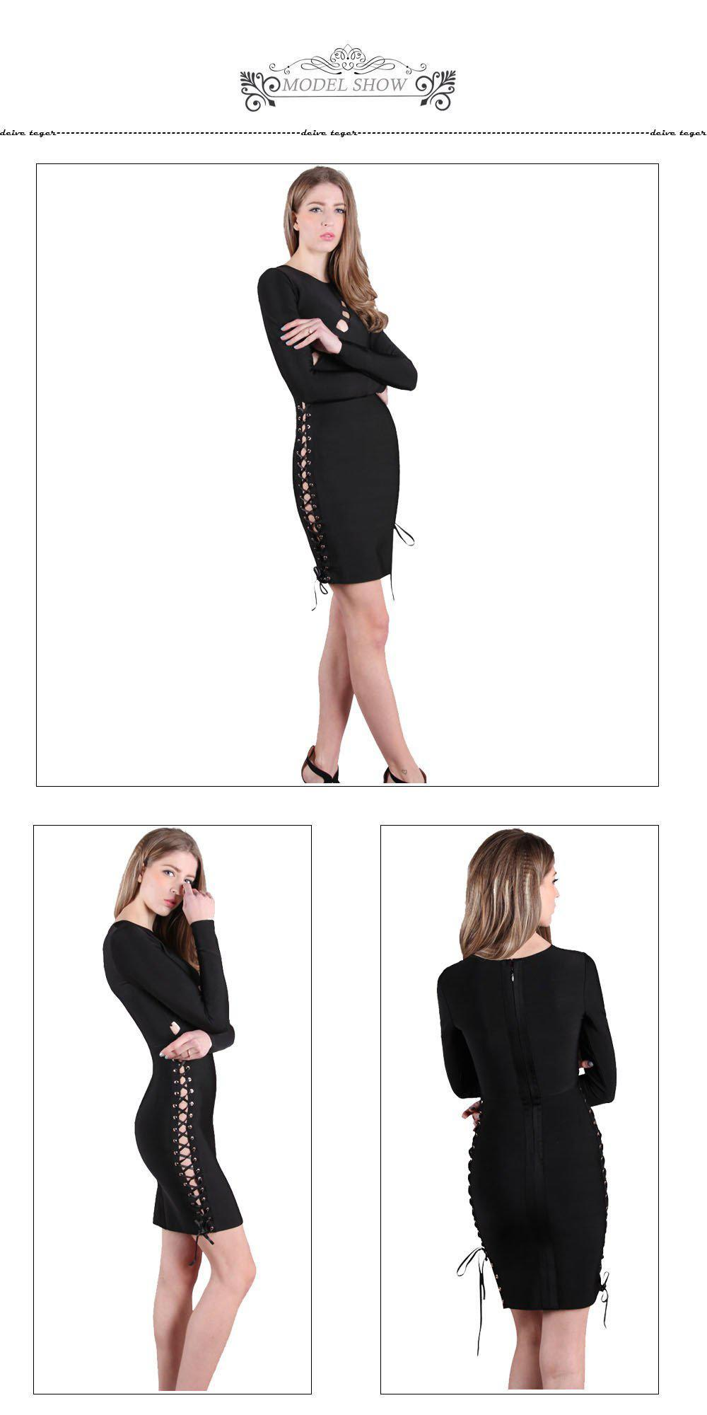 Woman bandage dress newest sexy long sleeve autumn Elegant dress Bandage Women Dress-Dress-SheSimplyShops