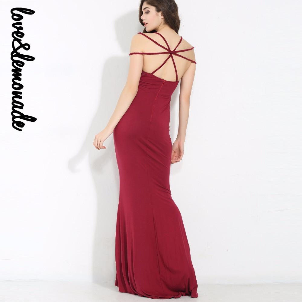 Sexy Red Strapless Cross Modeling Maxi Dress-Dress-SheSimplyShops