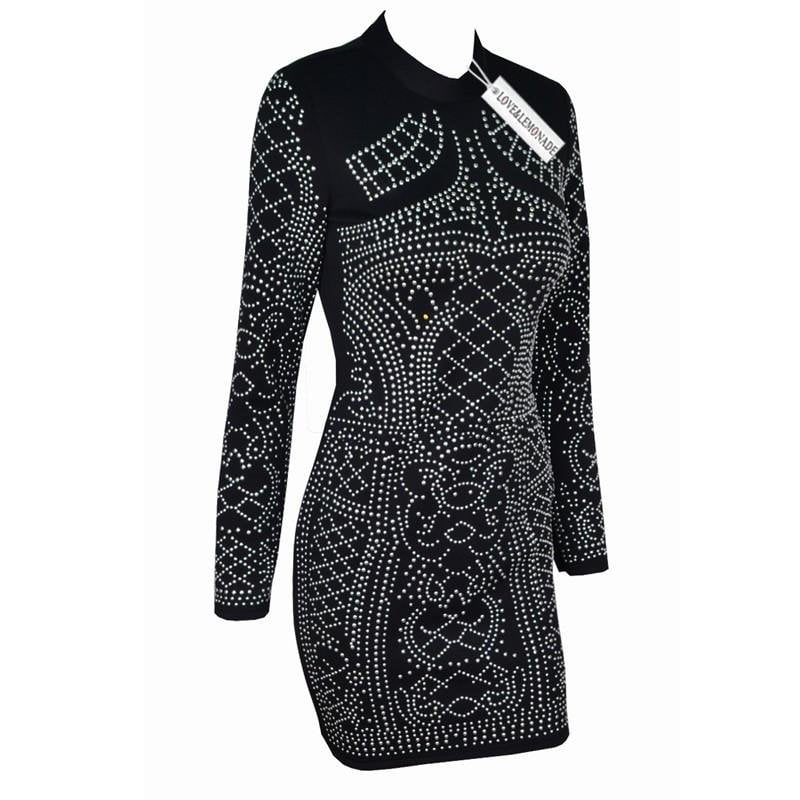 Fashion Geometry Silver Bead Piece Party Dress-Dress-SheSimplyShops