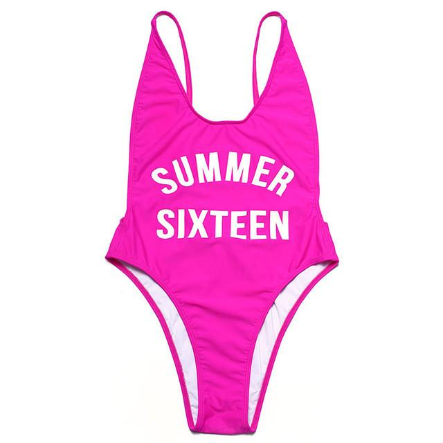 Swimwear solid Bikini Swimsuit double layer Bathing Suit Beachwear one piece Women Swimwear-SWIMWEAR-SheSimplyShops