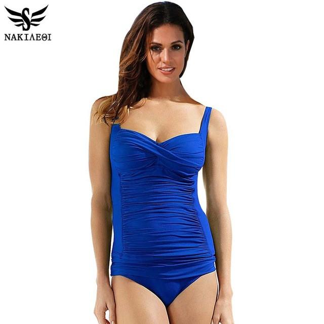 One Piece Swimsuit Plus Size Swimwear Women Summer Beachwear Push Up Bathing Suits Retro Swim Wear 4XL-SWIMWEAR-SheSimplyShops