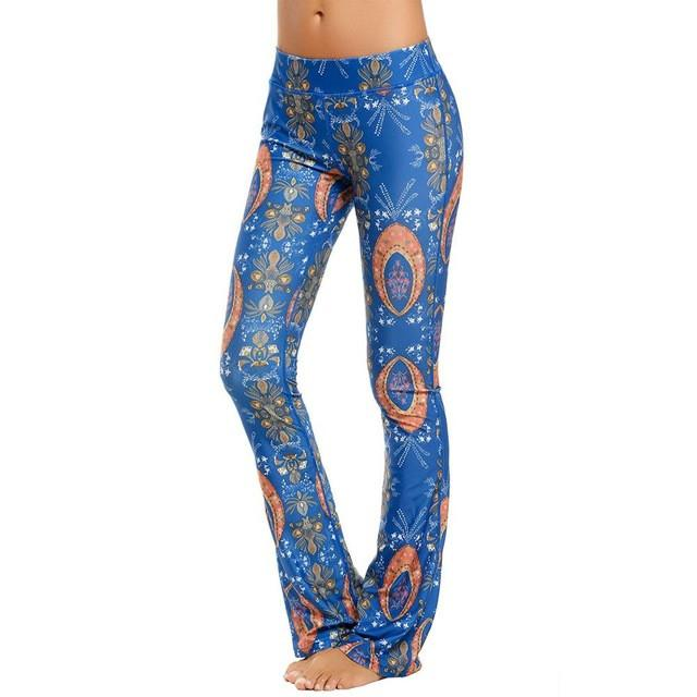 Fashion women leggings Retro Style Ladies Flared trousers Print Flower Elastic Skinny Leggings for Woman Sexy Pants S-XL-PANTS-SheSimplyShops