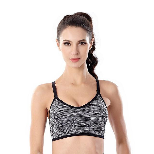 Shockproof quick dry wireless sports Bra No steel ring Padded Yoga Bras jogging underwear Fitness Push Up Running Brassiere-ACTIVEWEAR-SheSimplyShops