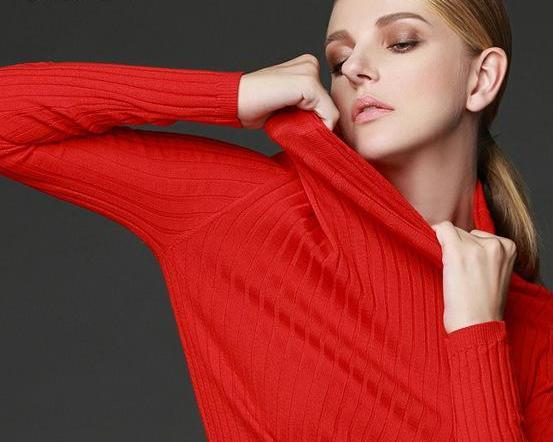 Women long sleeve solid knit turtleneck Heaps collar PULLOVERS sweater top tunic jumper Basic-SWEATERS + CARDIGANS-SheSimplyShops