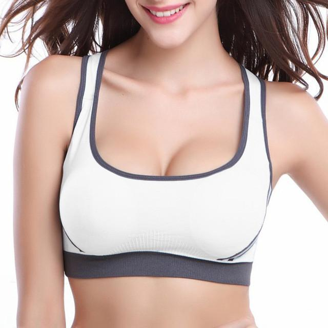 LASPERAL Women Bra Back Hollow Vest Padded Push Up Bra Shockproof Elastic Bralette Underwear Seamless Crop Top Bra-UNDERWEAR-SheSimplyShops