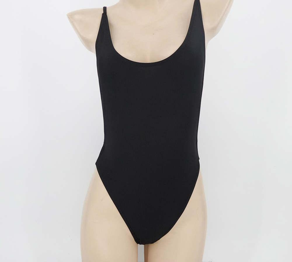 Backless Bodysuit high cut one piece Swimsuit-Bottoms-SheSimplyShops