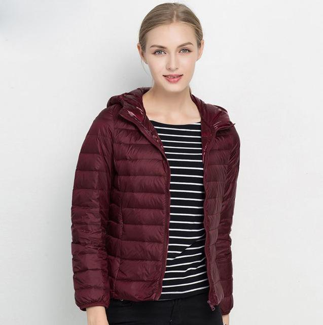 Ultra Light Down 90% Duck Down Hooded Jackets-Coats & Jackets-SheSimplyShops
