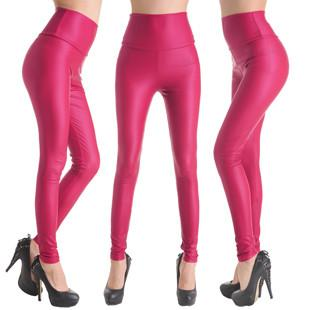 PU Leather High Waist Leggings-PANTS-SheSimplyShops