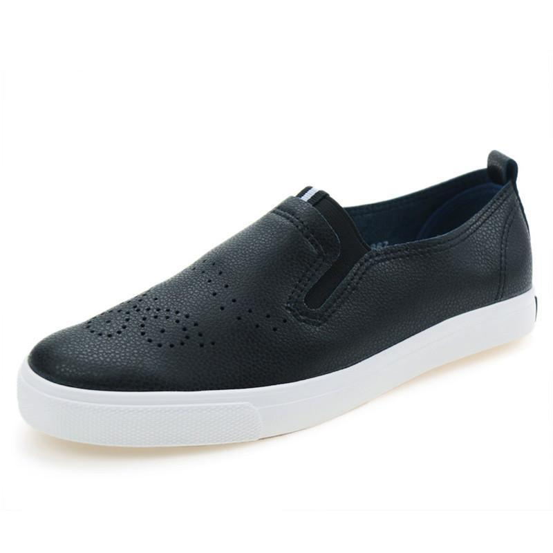 Fashion Leather Casual Shoes for Women Breathable Soft Women's Casual Shoes Black Footwear Flats Shoes Women Female-SLIPS-SheSimplyShops