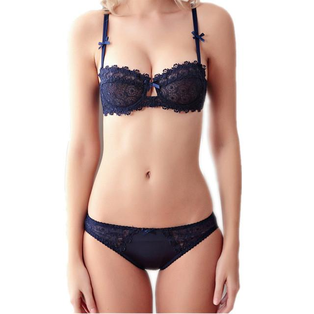 Sexy transparent lace push up bra-BRAS-SheSimplyShops