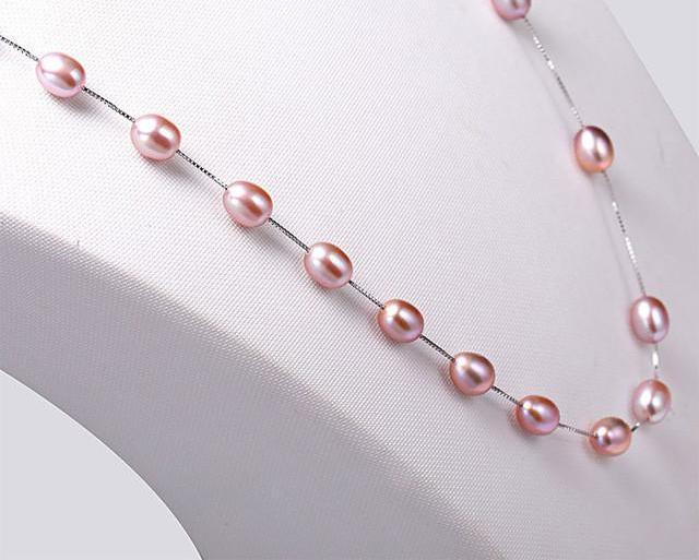Pearl Silver Chain Long Necklace-NECKLACES-SheSimplyShops