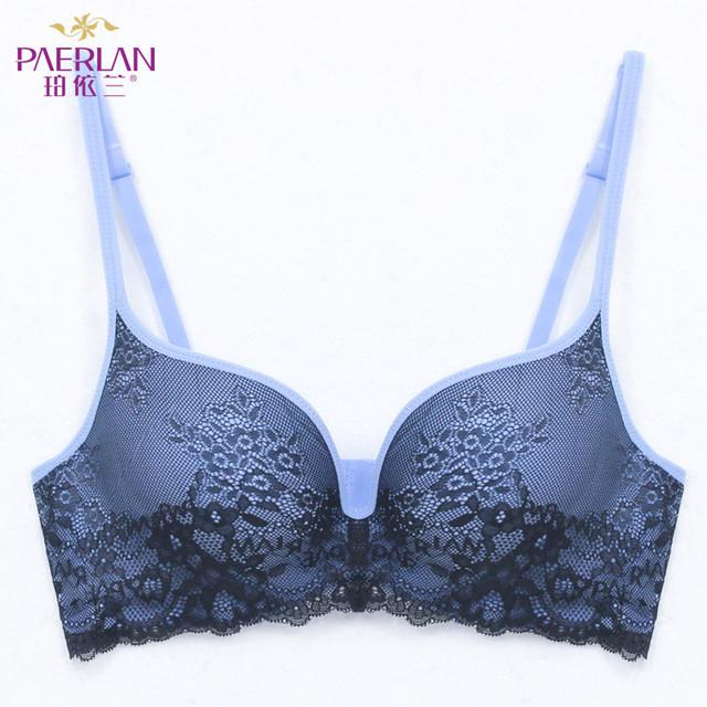 Seamless Wire Free lace bra small breasts Push Up One - Piece sexy Back Closure Tow Hook - and - eye underwea-SheSimplyShops
