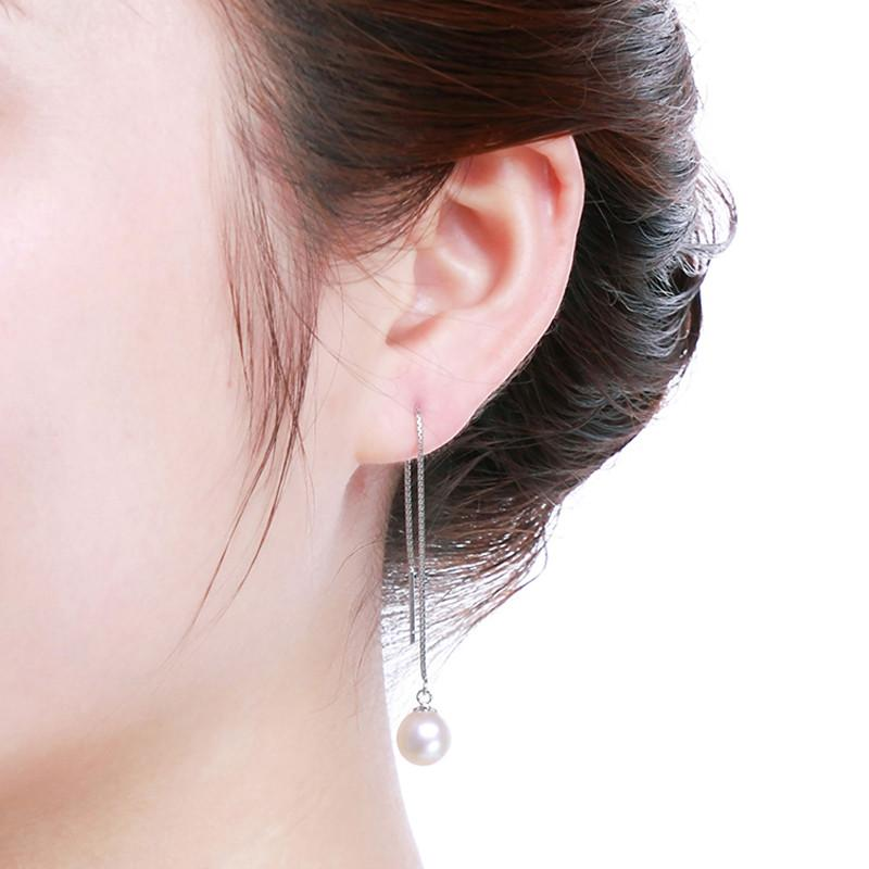 Fashion Dangle Long Earrings Real Pearl Jewelry Charms Long White Pearl Earrings For Women Girls-EARRINGS-SheSimplyShops