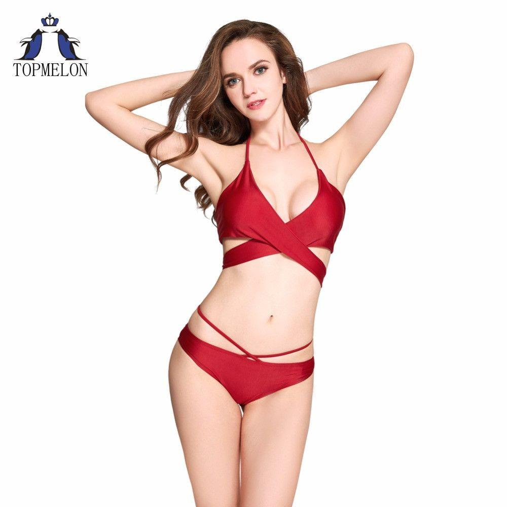 Bikini Swimwear swimsuit Women Bikini Set Swimsuit Halter Beach Biquini Bathing suit female bikini swimming suit-Tops-SheSimplyShops