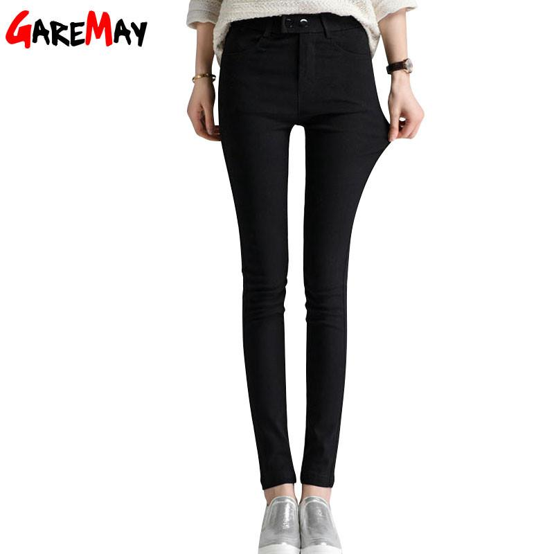 High Quality Women Clothing Pants Skinny OL Office Lady Spring Autumn Full Length Pencil Mid Waist Button Trousers Female Y207-PANTS-SheSimplyShops