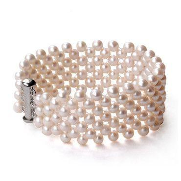 Charming Many Row Web White Fresh Water Pearl Bracelet, Wedding Party Jewelry Graceful Bracelet Handmade Bracelet-BRACELETS-SheSimplyShops