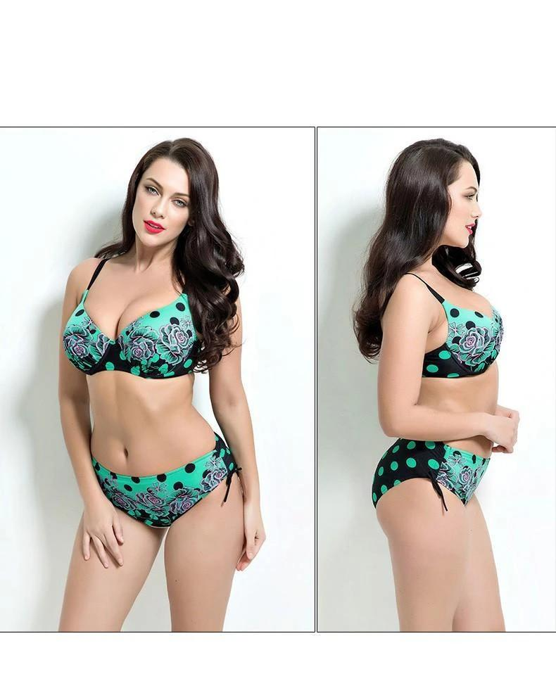 sexy printed bikini set women Bathing Suit Push up biquini women Super Large Cup Bikini set Women Swimwear beach wear-SWIMWEAR-SheSimplyShops
