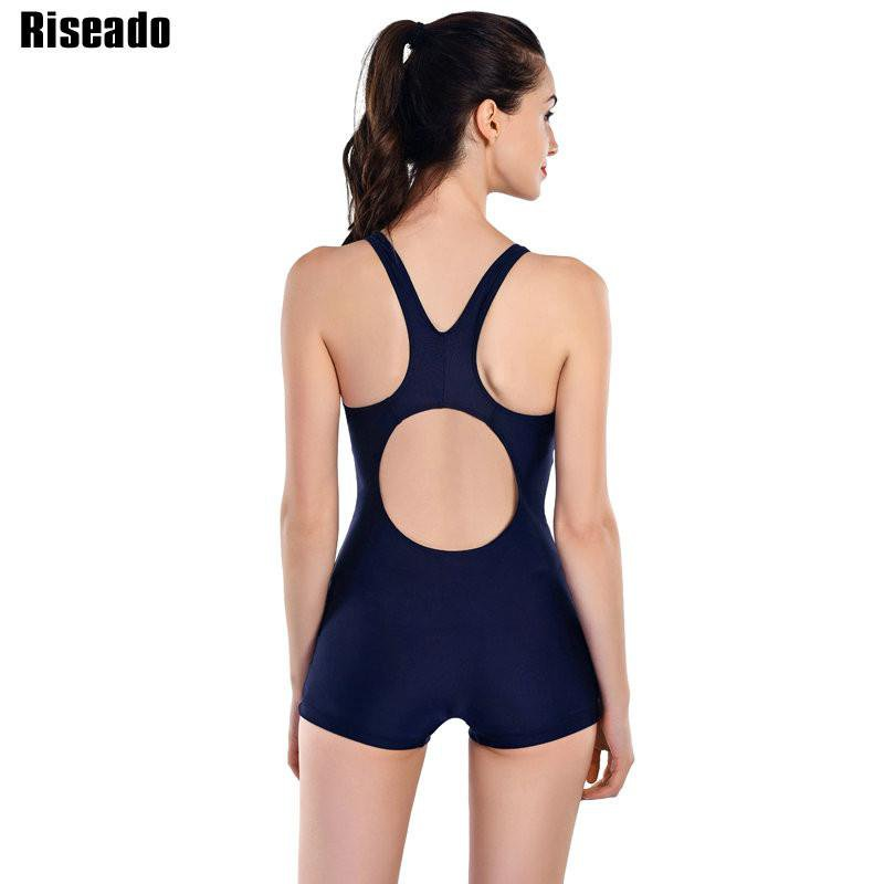 New Sports One Piece Swimsuits Swimwear Women Retro Shorts Backless Bathing Suits For Women-ACTIVEWEAR-SheSimplyShops