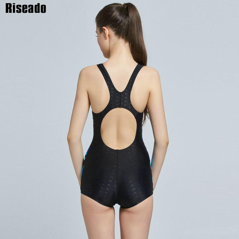 Sports Swim Wear One Piece Swimsuit Women Swimwear Straight Backless Summer Bathing Suits-ACTIVEWEAR-SheSimplyShops