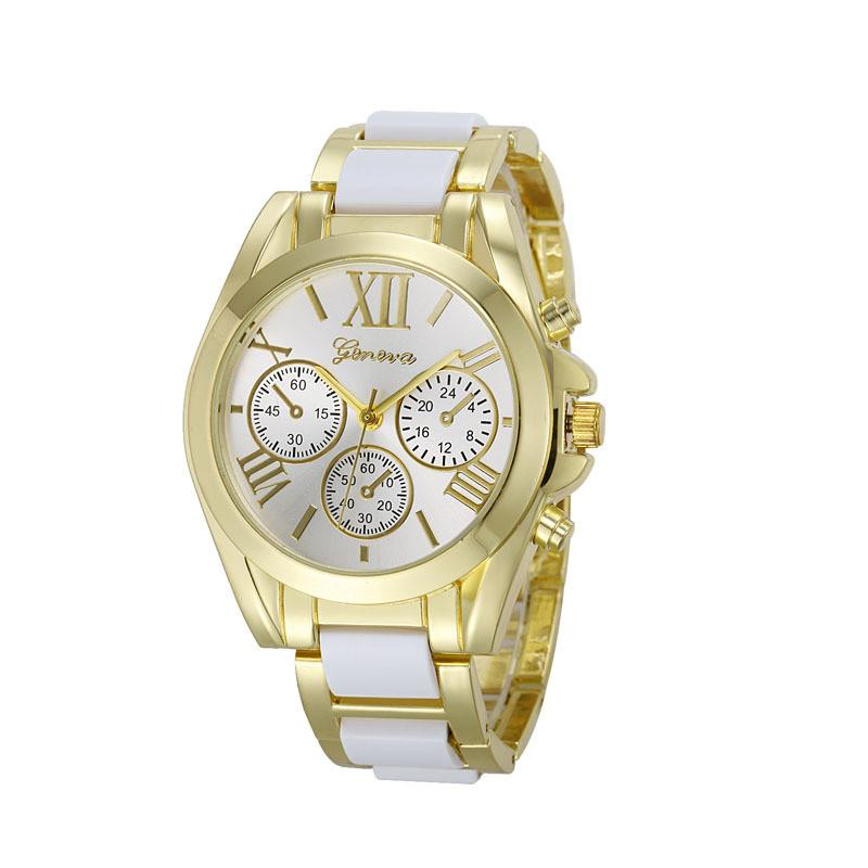 Luxury Brand Watches Women Geneva Quartz Analog Wristwatch Golden Band Roman Numerals Dial Watch Relogio Feminino 10 Color-BELTS-SheSimplyShops