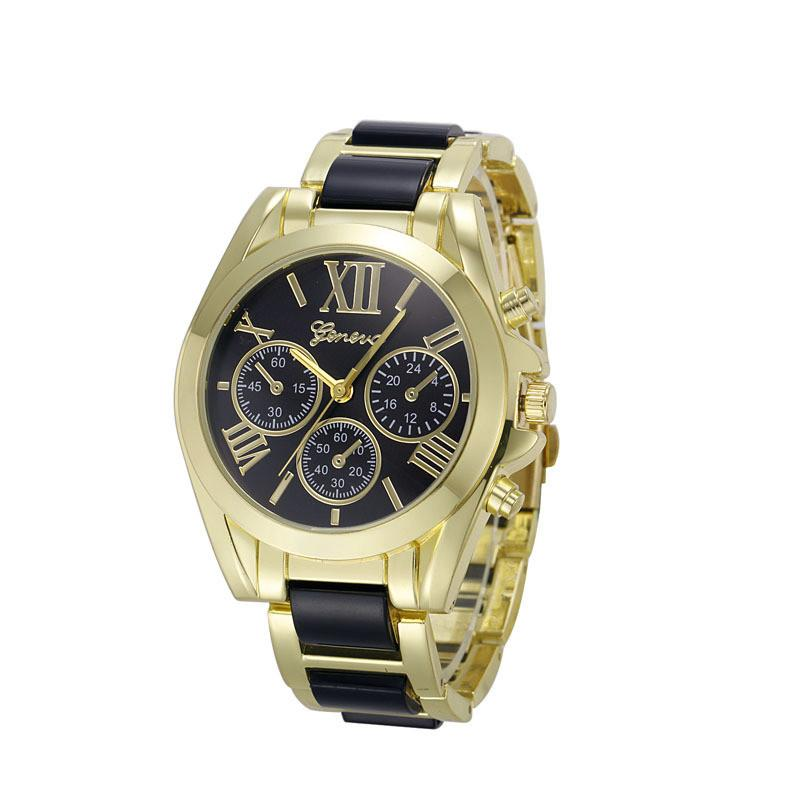 Luxury Brand Watches Women Geneva Quartz Analog Wristwatch Golden Band Roman Numerals Dial Watch Relogio Feminino 10 Color-WATCHES-SheSimplyShops