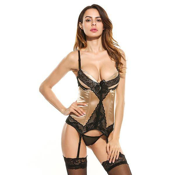 Body Shapewear Women Sexy Bridal Corsets and Retro Corset Top With G-string Size S-XXL Sexy lingerie Corset set-Tops-SheSimplyShops