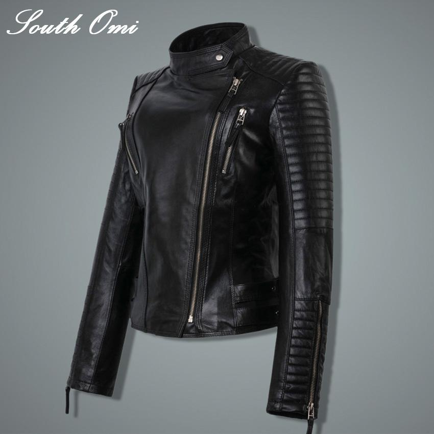 Fashion Autumn Winter Women Faux Soft Leather Jackets Pu Black Blazer Zippers Coat Motorcycle Outerwear &Rivet-Coats & Jackets-SheSimplyShops