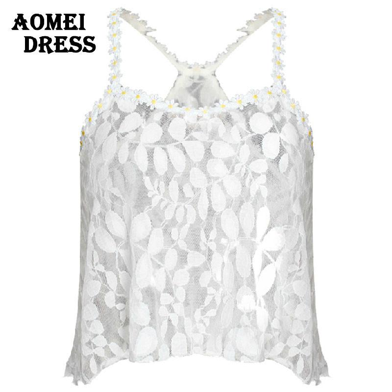 Sexy Summer Lace Crop Tops feminine cropped blouses vest clothing women feminine-Blouse-SheSimplyShops
