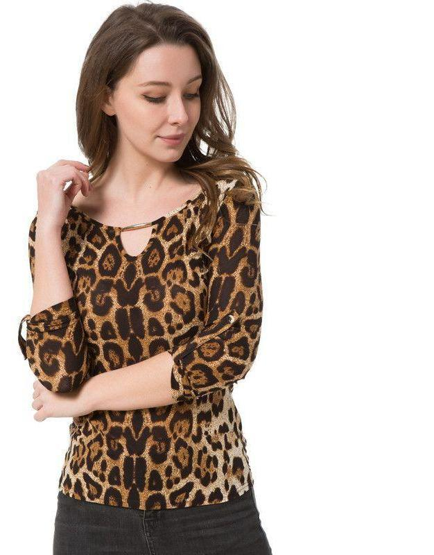 Blouse Women Tops Half Sleeve Women Shirt Plus Size Casual Women Clothing Lady Leopard Print Blouses-Blouse-SheSimplyShops
