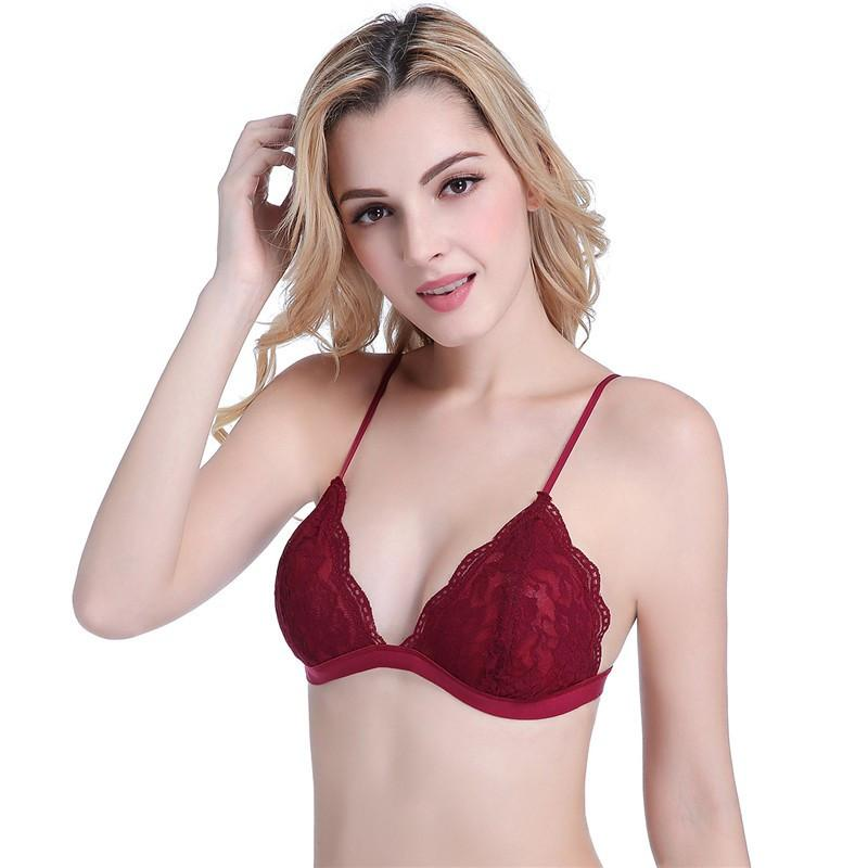 wire free lace underwear thin cup comfortable bra for women S M L-UNDERWEAR-SheSimplyShops
