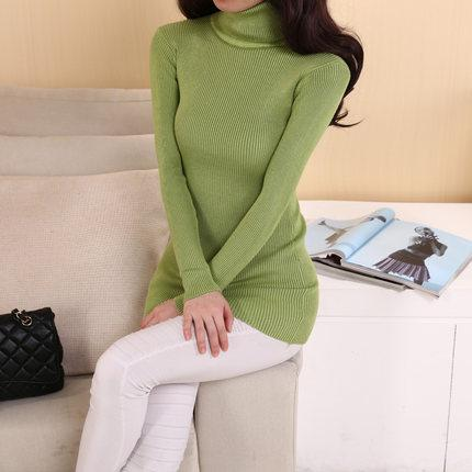 Sweater Women Turtleneck Pullover Ladies Shirt Female Warm Tops Clothing female knitted sweater-SWEATERS + CARDIGANS-SheSimplyShops