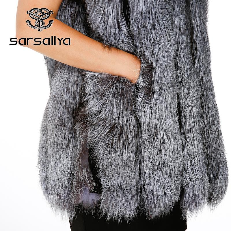 New fox fur vest winter coat women natural fur dress casual real fur real fur vest winter jacket women-Dress-SheSimplyShops