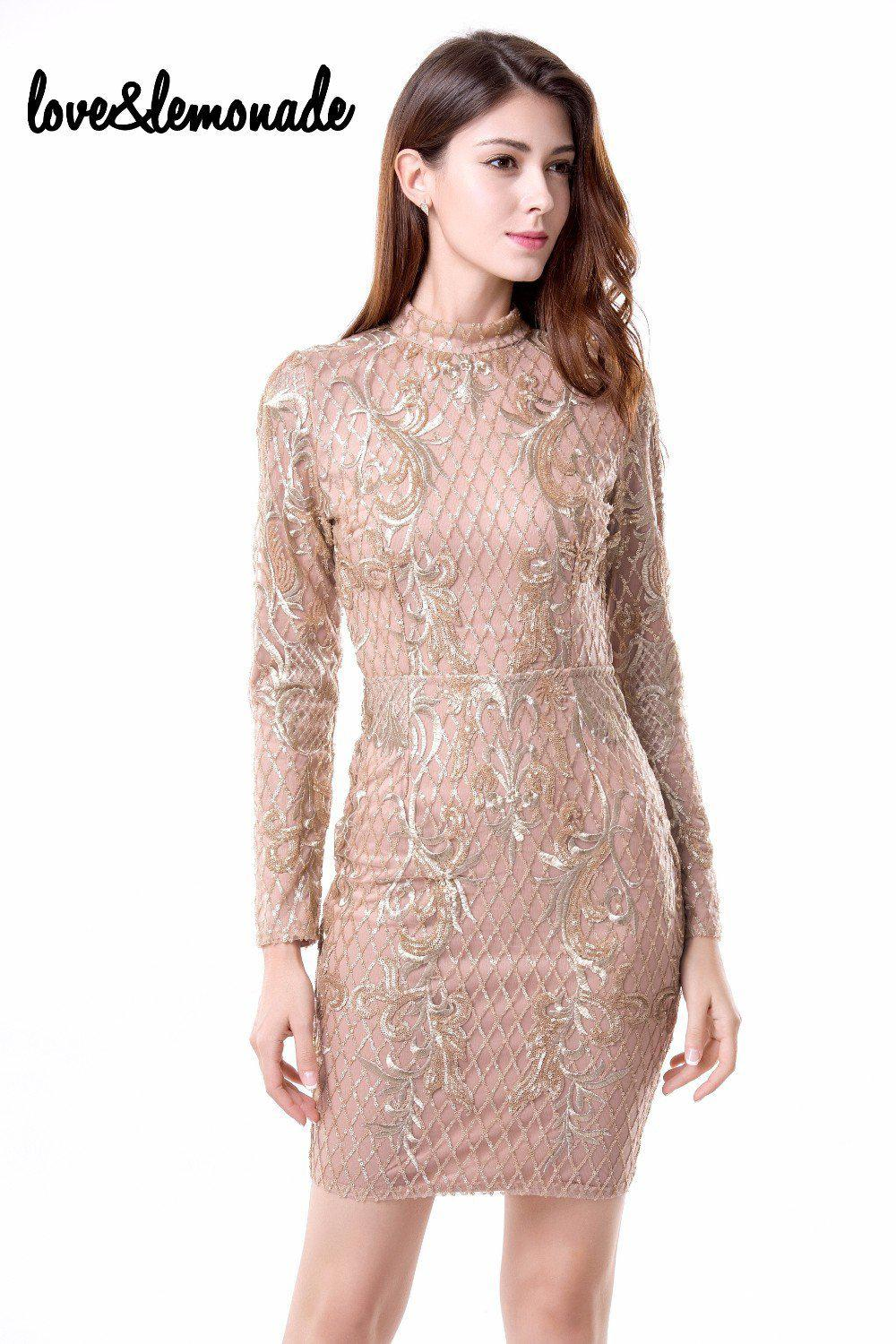 Sexy Geometry Sequined Halter Party Dress Nude-Dress-SheSimplyShops